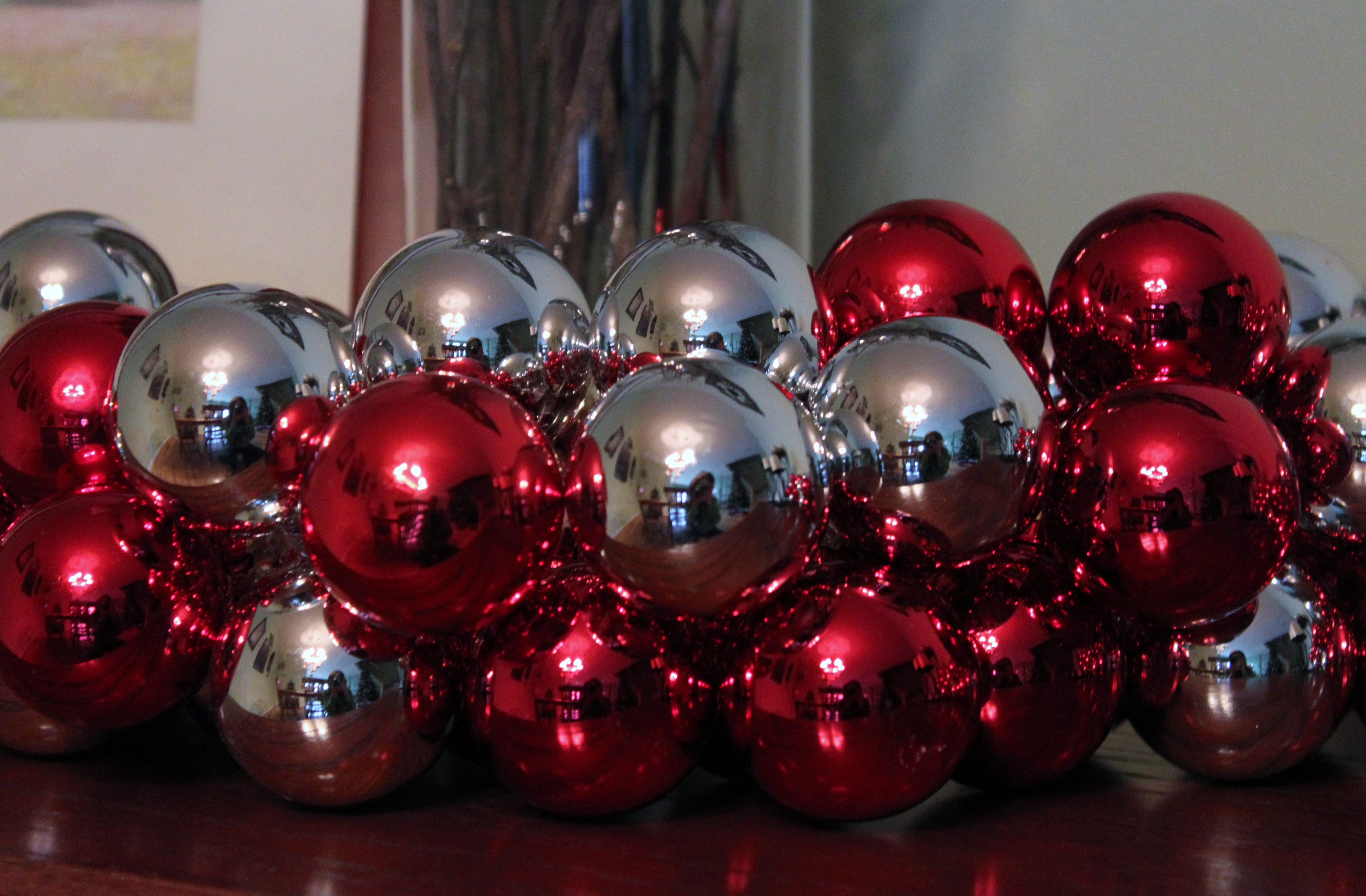 this is my christmas ball garland